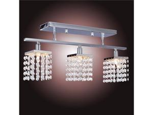 Crystal Chandelier with 3 Lights Lamp Ceiling Lighting - Linear Design