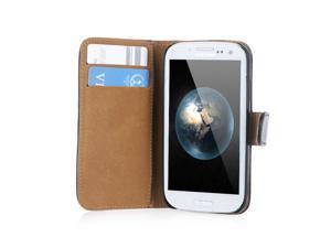 Elegant Artificial PU Leather Flip Case Cover for Samsung Galaxy S4 i9500/i9505 Black