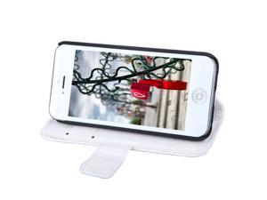 Fashion Card Holder Wallet Leather Case Flip Stand Cover for iPhone 5S 5C 5