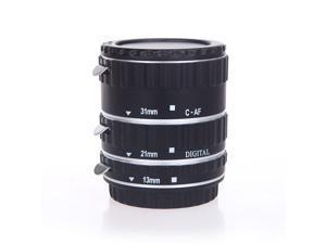 Colorful Metal TTL Auto Focus AF Macro Extension Tube Ring for Canon EOS EF EF-S 60D 7D 5D II 550D Silver