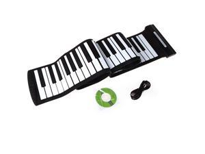 USB 88 Keys MIDI Roll up Electronic Piano Keyboard Silicone Flexible Professional