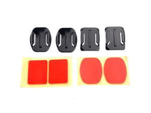 2pcs Flat + 2pcs Curved Adhesive Mount for GoPro Hero1/2/3/3+ Camcorder
