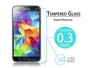 2.5D Ultra-thin Anti-shatter Protection Film Tempered Glass Screen Protector for Samsung Galaxy S5 i9600
