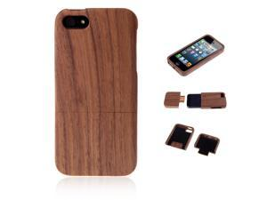 Natural Wood Walnut Hard Back Cover Case Shell for Apple iPhone 5 5s