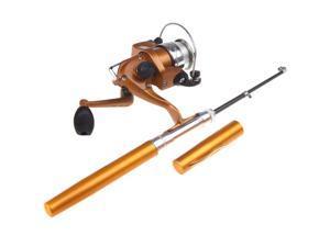 Mini Aluminum Pocket Pen Fishing Rod Pole + Reel