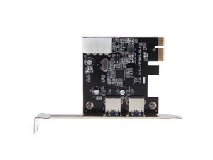 2-Port SuperSpeed USB 3.0 PCI-E PCI Express 4-pin IDE Connector Low Profile