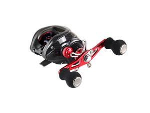 11BB 6.3:1 Right Hand Bait Casting Fishing Reel 10Ball Bearings + One-way Clutch High Speed Red