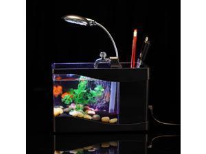 Tomotop Mini USB Desktop Lamp Light Colorful LED Fish Tank Aquarium - Black