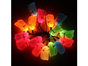 16 Scary Ghost String Flash Light Style Halloween Lamp Bulb Festival Bar Haunted House Decoration Colorful