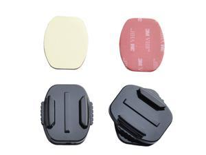 2 * Flat Surface 360 Degree Rotation Mount with 2 * 3M VHB Adhesive Sticky for GoPro Hero 1 2 3 3+