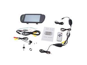 "7"" LCD Monitor Car Rear View Kit Mini Camera Reverse Backup Parking Night Vision+ Wireless Transmitter+Receiver Set"