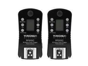 YONGNUO RF605C Wireless Flash Trigger & Shutter Release 16 Channels for Canon Cameras + dodocool® Magic Smart Cleaning Cloth Screen Cleaner