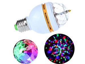 3W E27 Full Color LED Crystal Voice-activated Rotating Stage DJ Lamp Light Bulb