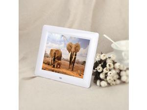 7'' HD TFT-LCD Digital Photo Frame with Slideshow Alarm Clock MP3 MP4 Movie Player with Remote Desktop