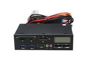 "5.25"" USB 3.0 e-SATA All-in-1 PC Media Dashboard Multi-function Front Panel Card Reader I/O Ports"