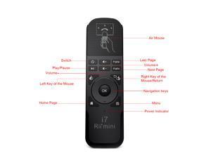 Rii Mini i7 2.4G Mini Wireless Air Mouse Remote Combo for TV BOX PC Laptop Mini PC