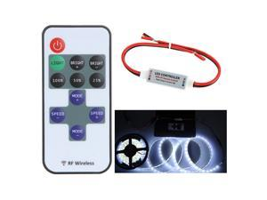 5-24V 11 Key Wireless RF Remote LED Mini Controller Dimmer for Single Color LED Strip 5050 3528