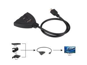 New 1.8FT Portable 3 * Input 1 * Output HDMI1.4 Intelligent Auto Switch Switcher 3x1 Switch Cable