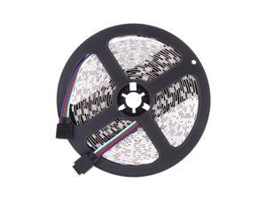 10M 2*5M 5050 SMD RGB 600LEDs LED Strip Light Lamp 44Key + IR Remote Controller DC12V + Power Adapter AC100-240V