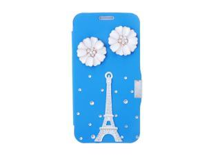 Fashion Flip PU Leather Bling Rhinestone Diamond Protective Case Cover for Samsung Galaxy S6