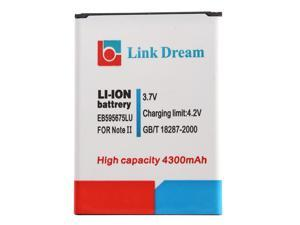Link Dream 3.7V 4300mAh Rechargeable Li-ion Battery High Capacity Replacement for Galaxy EB595675LU Note II 2 N7100