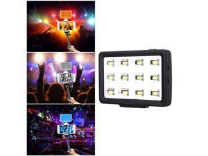 Commlite CoMiray CM-PL12 Multi-functional Mini LED Video Light High CRI Portable Spotlight Pocket Fill-Light Samrtphone Selfie Light for iPhone Samsung Cellphone iPad Pad/DSLR/Gopro/ SJCAM Sport Came