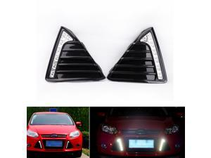 Pair 12V 7-LED Daytime Driving Running Light DRL Fog Lamp White for Ford Focus 2011-2014