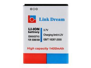 Link Dream 3.7V 1400mAh Rechargeable Li-ion Battery High Capacity Replacement for Samsung S5360 i509
