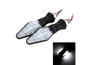 2Pcs 12V Clear Lens Supper Bright Motorcycle Turn Signal Lights 9 LED Indicator