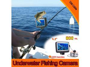 """4.3"""" Digital Color LCD Monitor DVR Video 8 LED 800TVL HD Underwater Fishing Camera 15M Cable Fish Finder"""
