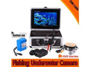 """7"""" TFT LCD Color Monitor 800TVL Portable Fish Finder DVR Video HD Underwater Fishing Camera 20M Cable"""