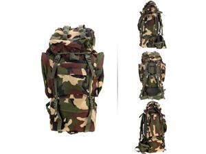 65L Outdoor Water Resistant Travel Hiking Trekking Camping Tactical Rucksack Backpack with Rain Cover