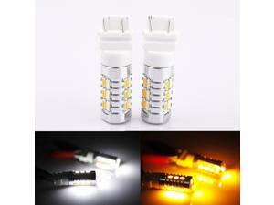 Dual Color Switchback Turn Signal LED Light Bulbs White & Amber