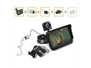 """4.3"""" HD TFT LCD Monitor Screen Night Vision Fish Finder DVR Video 6 Infrared LED Underwater Fishing Camera + Overwater Camera Wide Angle 20M Cable"""