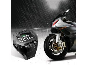 Steelmate DIY TP-90 TPMS for Motorcycle Tire Pressure Monitoring System with Waterproof External Sensor Wireless LCD Display