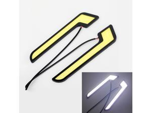 2PCS Bright Car COB LED Light Waterproof Ultrathin Daytime Running Light DRL Fog Driving Lamp White