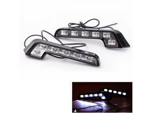 New 2PCS 6 LED Car Daytime Running Lights DRL Fog Driving Lamp Universal Use 12V Super White