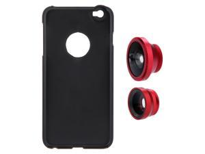 3-in-1 Phone Photo Lens 180° Fisheye 0.67X Wide Angle 10X Macro Set with Case for iPhone 6 Plus