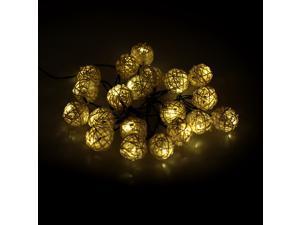 LIXADA Outdoor Garden Solar Powered 4.6M 20LED Warm White Vine Ball Globe Light Control String Lamp Fairy Lights