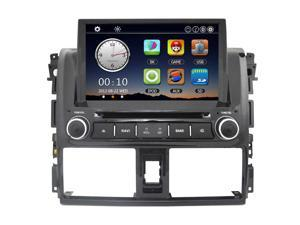 "8"" Car Radio Double 2 Din Car DVD Player GPS Navigation in Dash Car for Toyota Vios 2014 +Free Map +Free Card"