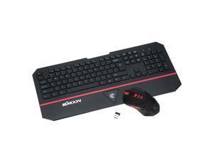 KKMOON Ultra Slim 2.4 GHz Wireless Keyboard & Optical Mouse Combo Set Kit with USB Nano Receiver for PC Laptop Desktop