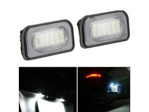 Pair LED License Plate Light Lamp for BENZ W203 4D Sedan
