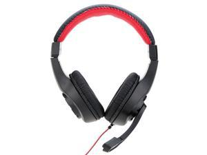 LUPUSS Adjustable Over Ear 3.5mm Aux Esport Gaming Headphones - Low Bass Stereo with Mic Wired for PC Laptop Computer Tablet Notebook