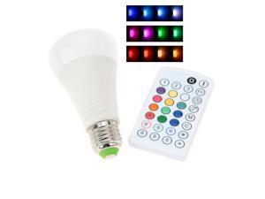 E27 10W 110-240V AC RGBW Colorful LED Bulb Light Stage Lamp Remote Control Color & Brightness Adjustable Home Indoor Decor Lighting CE RoHs