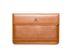 """Lention Leather Flap Sleeve Bag Case Pouch for MacBook Pro/Pro with Retina 15.4"""" Ultrabook Laptop Notebook"""