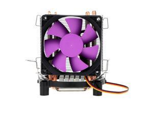 BDK Ultra Silent Cooling Fan CPU Cooler Radiator with 2 Heat Pipes for Intel LGA 775/115X AMD AM2/754/939/940