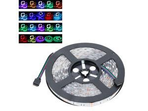 LIXADA LED RGB Strip Light - SMD 5050 Flexible Light IP65 60LEDs/m 5m/lot with 44key RF Remote and 12V 5A Adapter for Bar Hotel Restaurant