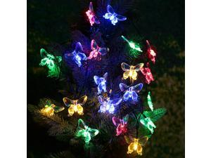 LIXADA Outdoor Garden Solar Powered 4.7M 20 LED Multi Color Butterfly Light Contriol String Lamp for Party Wedding Home Decoration