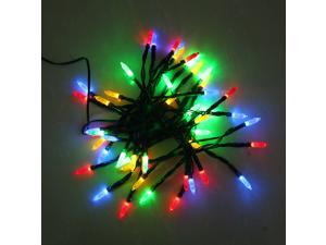 7.5M Solar Power Colorful Light 50 LED Ice Fairy String Light Sense Lamp for Xmas Party