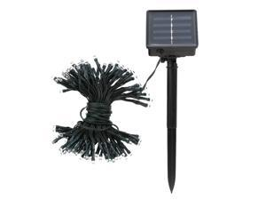 17m 100 LED Colorful Solar LED Light Fairy String Christmas Party